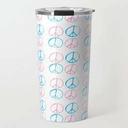 Peace and love-anti-war,pacifist, pacifism,hippies,paz,love,heart, Travel Mug