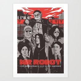 Mr Robot Illustration Art Print