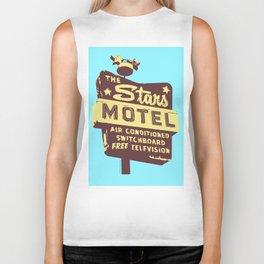 Seeing Stars ... Motel ... (Blue Background) Biker Tank