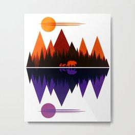 Bear & Cubs #5 Metal Print