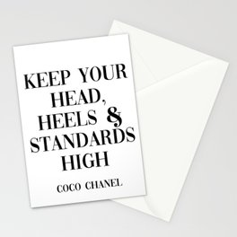coco quote Stationery Cards