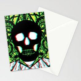 Green Skull 3d Stationery Cards