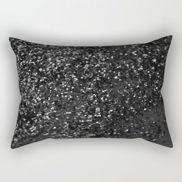 Black & Silver Glitter #1 #decor #art #society6 Rectangular Pillow