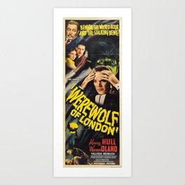 Werewolf of London, vintage horror movie poster 3 Art Print