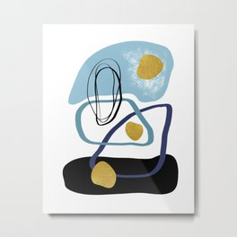 Modern minimal forms 10 Metal Print