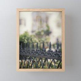 New Orleans Garden District Fence Framed Mini Art Print