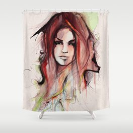 Beauty is Power Shower Curtain