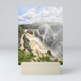Barron Falls under a summer sky Mini Art Print