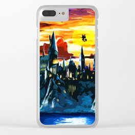 Hogwarts Castle At Sunset Clear iPhone Case