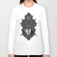 american psycho Long Sleeve T-shirts featuring American Psycho Kitty by Elisabeth Acerbi
