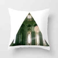 religious Throw Pillows featuring Thank god, I'm not religious. by Kilian Guenthner