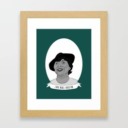 Zora Neale Hurston Illustrated Portrait Framed Art Print