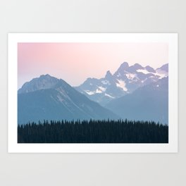 Pink Cascades - Mountain Nature Landscape Photography Art Print