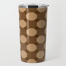 Brown Octagons Travel Mug
