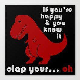 unhappy t-rex Canvas Print