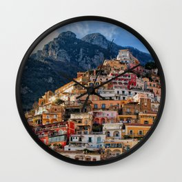 Positano, ITALY #SOCIETY6 #DECOR #BUYART Wall Clock