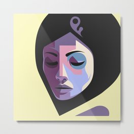 Girl in hijab Metal Print