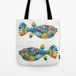 Puffer Fish Art - Blow Puff - By Sharon Cummings Tote Bag