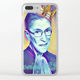 Vintage Notorious RBG SUPREMES Ruth Bader Ginsburg Clear iPhone Case