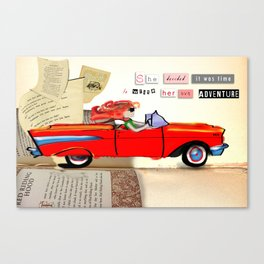 Red Riding Hood Hits the Road Canvas Print