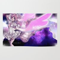 madoka magica Area & Throw Rugs featuring Goddess Madoka by DeadlySpade
