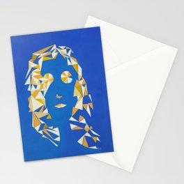 """ The girl with kaleidoscope eyes "" / Acrylic on canvas. Stationery Cards"