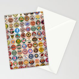 Gasoline Decals Stationery Cards