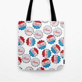 Vintage metal soda caps pattern Tote Bag