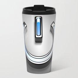 Start symbol for technology with blue light - 3D rendering Travel Mug