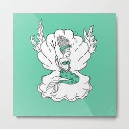 Caribbean Mermaid Design Metal Print