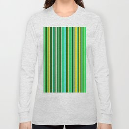 GREEN SPRING STRIPES Long Sleeve T-shirt