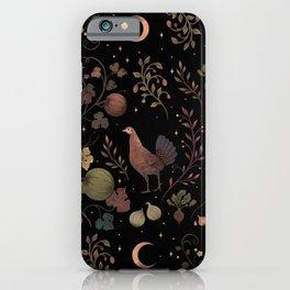 Wild Chicken with Autumn Vines iPhone Case