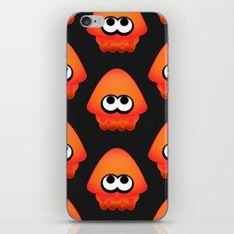 Splatoon Squid Pattern Orange iPhone Skin