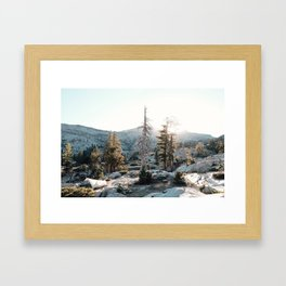Home Is Where You Pitch It Framed Art Print