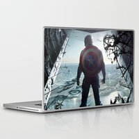 steve rogers Laptop & iPad Skins featuring Steve Rogers 002 by TheTreasure