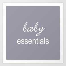 Baby Essentials Pantone 2016-Lilac Gray Art Print