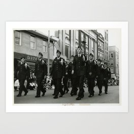 ROTC in Parade Art Print