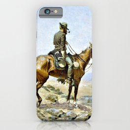Frederic Remington - The Lookout - Digital Remastered Edition iPhone Case