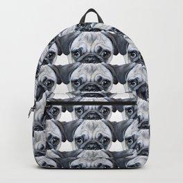 pug Dog illustration original painting print Backpack