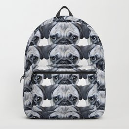 pug Dog illustration original painting print Backpack