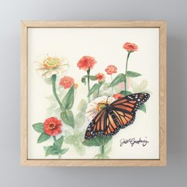 Monarch Study Framed Mini Art Print