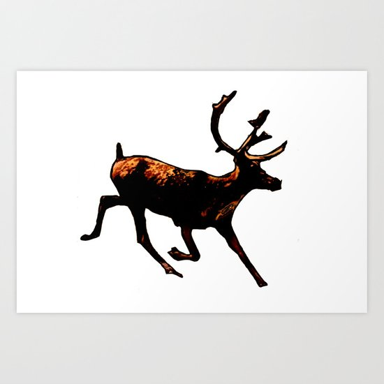 The Mighty Moose Mongoose Reindeer Elk Rentier Caribou Art Print