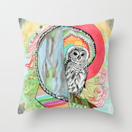 Owl Dreamcatcher Dream Throw Pillow
