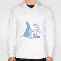 the last unicorn Hoodies featuring My Little Last Unicorn by Ashley Hay