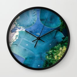 Skatepark - Aerial Photography Wall Clock