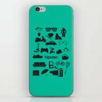 hipster iPhone & iPod Skins featuring hipster by tycejones