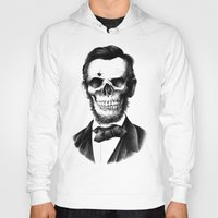lincoln Hoodies featuring Lincoln Skull by BIOWORKZ