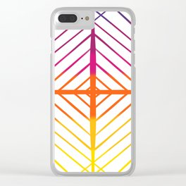 Sunset Gradient Lines Clear iPhone Case