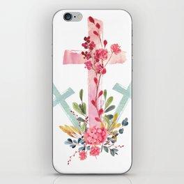 calvary floral iPhone Skin