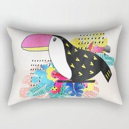 Watercolor toucan bird Rectangular Pillow